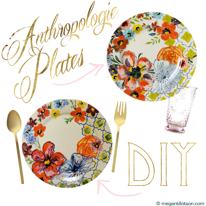 Anthro Plates DIY